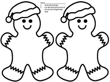 Gingerbread Man Number Sense (1-10)