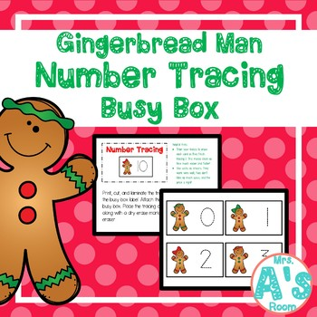 Gingerbread Man Number Tracing Busy Box