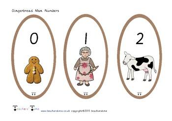 Gingerbread Man Numbers 0-20