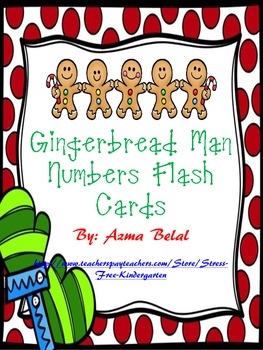 Gingerbread Man Numbers Flash Cards
