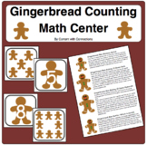 Gingerbread Man Numeral Cards & Counting: Making 10 Math Game