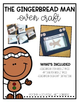 Gingerbread Man Oven Book Craft