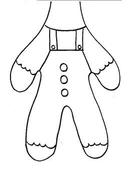 Gingerbread Man Paper Bag Puppet and Math Activities