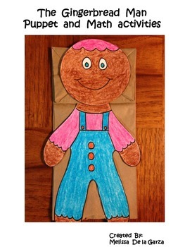Gingerbread Man Paper Bag Puppet and Math Activities