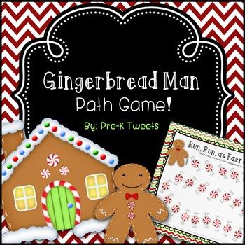 Gingerbread Man Path Game