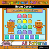 Gingerbread Man Patterns - AB Patterns - Boom Cards - Digi