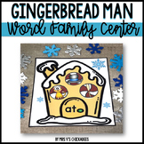 Gingerbread Man Phonics Center: Word Families