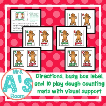 Gingerbread Man Play Dough Counting Busy Box