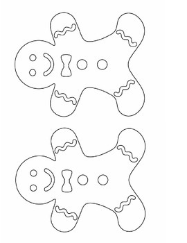 Gingerbread Man Pocket Chart