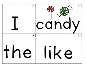 Gingerbread Man FUN Pocket Chart Sentence Builder FREEBIE