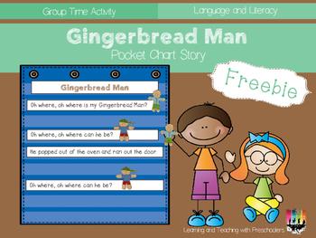 Gingerbread Man Pocket Chart Story