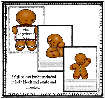 Gingerbread Man Poem to Practice Reading, Letters and Penmanship