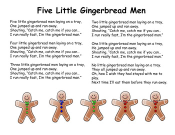 Gingerbread Man Poem and Book Companion