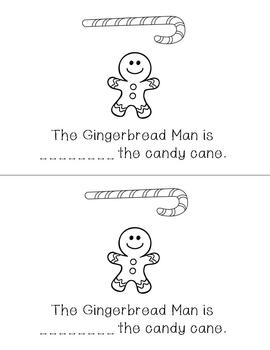 Gingerbread Man Positional Word Easy Reader