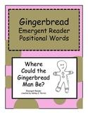 Gingerbread Man Positional Word Emergent Reader