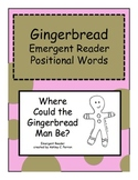 Gingerbread Man Positional Word Emergent Reader