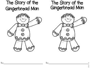 Gingerbread Man Pre-K and Kindergarten Math and Literacy Activities