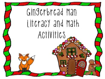 Gingerbread Man Pre-K and Kindergarten Math and Literacy ...