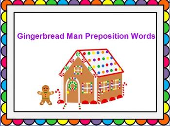 Gingerbread Man Prepositions For ActivInspire