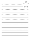 Gingerbread Man Primary Lined Paper