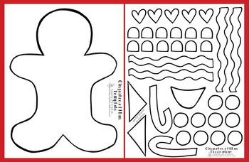 graphic regarding Gingerbread Printable identified as Gingerbread Guy Printable Craftivity Template