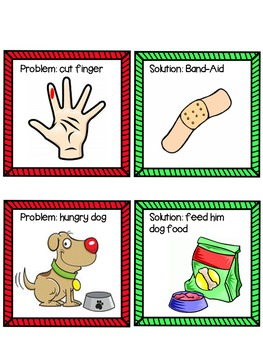 Gingerbread Man Problems & Solutions Packet