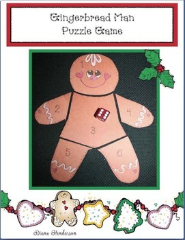 Gingerbread Man Puzzle Game