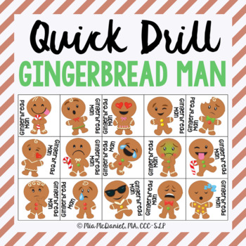 Gingerbread Man Quick Drill {for any skill drill}
