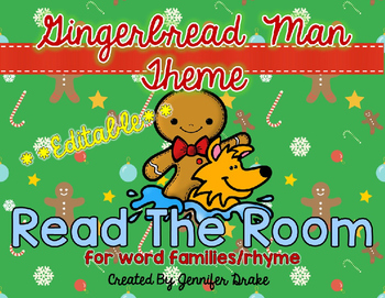 Gingerbread Man Read the Room **EDITABLE**