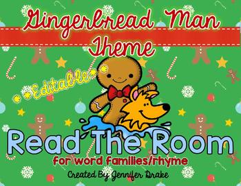 Gingerbread Man Read the Room **EDITABLE**