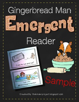Gingerbread Man Reader - I See The Gingerbread Man *Also in my GINGER MEGA PACK*