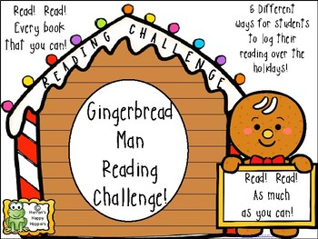 Gingerbread Man Reading Challenge - Christmas