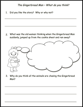 Gingerbread Man - Fairy Tale Reading Comprehension Unit
