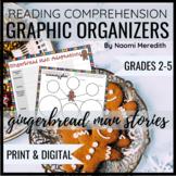 Gingerbread Man Comprehension Questions   Graphic Organizer Printable & Digital
