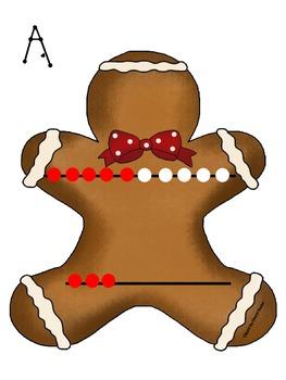 Gingerbread Man Rekenrek Count the Room Teen Number Activity