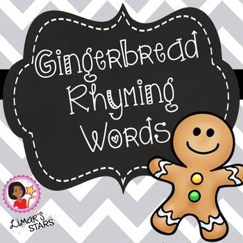 Gingerbread Man Rhyming Words