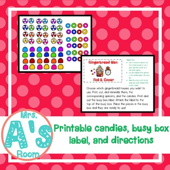 Gingerbread Man Roll & Cover Busy Box