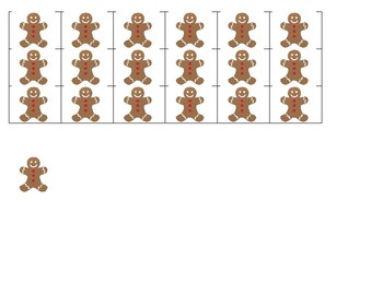 Gingerbread Man Roll and Cover Math Center