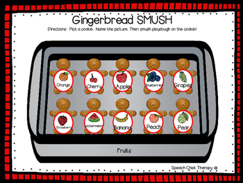 Gingerbread SMUSH mats for Speech and Language