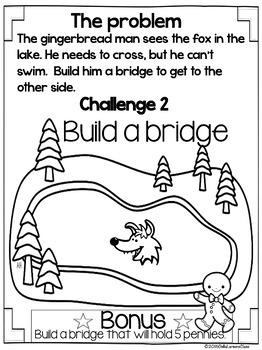 Gingerbread Man STEM Challenges