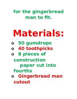 Gingerbread Man STEM activity