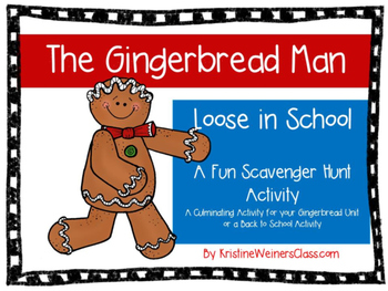 Gingerbread Man - Loose in School - Scavenger Hunt