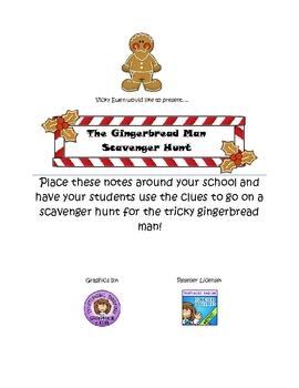 Gingerbread Man School Scavenger Hunt