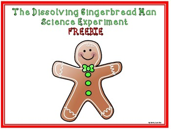 Gingerbread Man Science Experiment FREEBIE