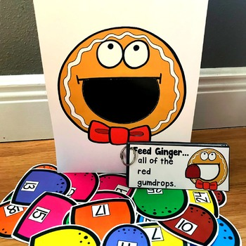 "Gingerbread Man Sensory Bin Activities:  ""Feed Ginger"""