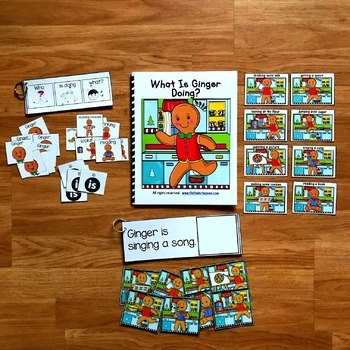 "Gingerbread Man Sentence Builder Book:  ""What Is Ginger Doing?"""