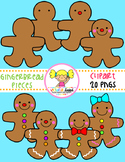 Gingerbread Man Sequencing Clipart