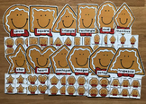 Gingerbread Man Shapes Sorting Mats