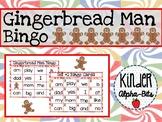 Gingerbread Man Sight Word Bingo