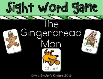Gingerbread Man - Sight Word Game